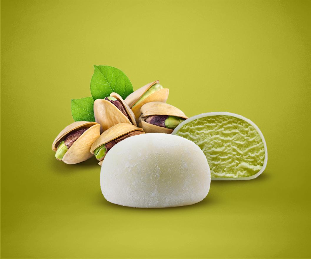 Pistachio Mochi Ice Cream